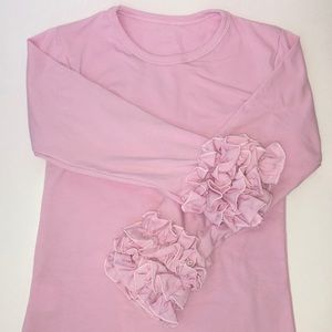 Other - Pink Ruffle Sleeve Top (long sleeves)